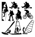 Extreme Sports Silhouette vector image vector image
