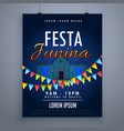 festa junina holiday flyer poster design template vector image vector image