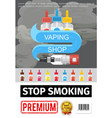 flat smoking addiction poster vector image vector image