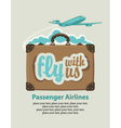 fly with us vector image vector image