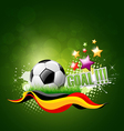 Football artistic background vector image