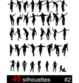 forty silhouettes vector image vector image