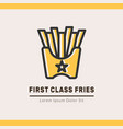fries logotype template vector image