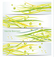 Green lines Abstract background vector image vector image
