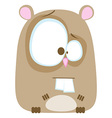 Hamster cartoon vector image vector image