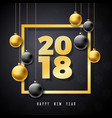happy new year 2018 with gold number vector image vector image