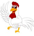 Happy White Chicken vector image vector image
