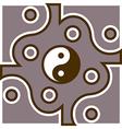 Jing Jang theme vector image vector image