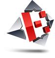 K 3d letter vector image