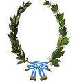 laurel and olive wreath vector image