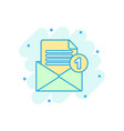 mail envelope icon in comic style email message vector image vector image