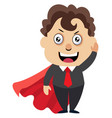 man with red cape on white background vector image vector image