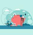 money savings flat style design vector image