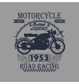 Motorcycle Racing Typography Graphics Label T vector image vector image