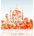 Muslim mosque on Ramadan Holy month greeting card vector image vector image