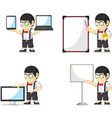 Nerd Boy Customizable Mascot 20 vector image vector image