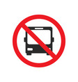 no bus allowed street sign vector image vector image