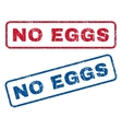 No Eggs Rubber Stamps vector image vector image