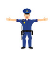 police officer happy emoji isolated policeman vector image vector image