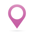 purple map pointer icon marker GPS location flag vector image