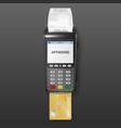 realistic black 3d payment machine pos vector image