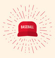 red baseball cap icon vector image