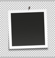 retro realistic photo frame vector image vector image