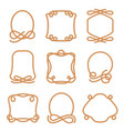 rope frame set vector image