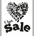 sale banner design decoration vector image