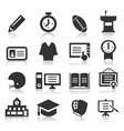 School an icon vector image vector image