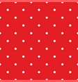 seamless pattern with white polka dots on red vector image vector image