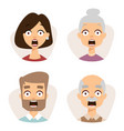 set beautiful emoticons face of people fear vector image vector image