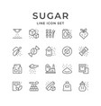 set line icons sugar vector image