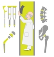 Set of Flat Icons From Surgery and Orthopedics vector image vector image