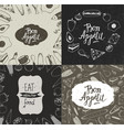 set of food banners posters vector image