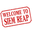 Siem Reap - welcome red vintage isolated label vector image vector image