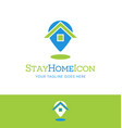stay at home icon combining house with map pin vector image vector image