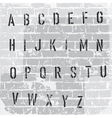 stencil grunge font vector image vector image