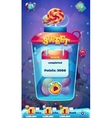 Sweet world mobile GUI level completed screen for vector image vector image