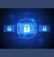 technology digital security of cyber vector image vector image