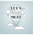 Travel theme vector image