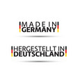 two simple symbols made in germany signs vector image vector image