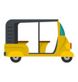 urban taxi icon flat style vector image