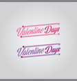 valentine day font logo vector image vector image