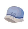 vintage blue womens hat without borders vector image vector image