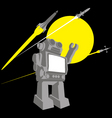 vintage robot space toy vector image vector image