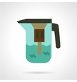Water jug with filter icon vector image