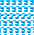 Water wave seamless patterns vector image vector image