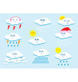 Weather cartoon vector image vector image