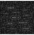 WEB2 0 vector image vector image